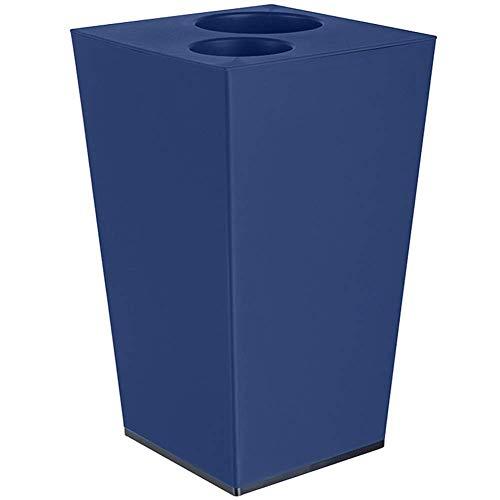 Doble reciclaje de contenedor de residuos doble compartimiento doble compartimiento for la separación de residuos, perachoneo a prueba de papel de basura de plástico, uso de la oficina interior / de u