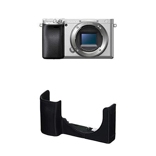 ソニー ミラーレス一眼 α6400 ボディ シルバー 120mm×66.9mm×48.8mm ILCE-6400 Sソニー 一眼カメラケース ボディケース ブラック LCS-EBE B
