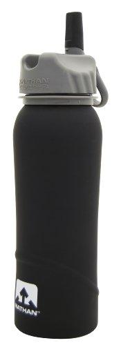 Nathan Trinkflasche Edelstahl, Black-Soft, 0,7L