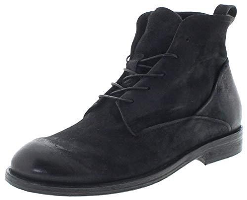 FB Fashion Boots A.S.98 Herren Schuhe 490214 Nero Lederstiefelette Schnürstiefel Schnürschuhe Schwarz 45 EU