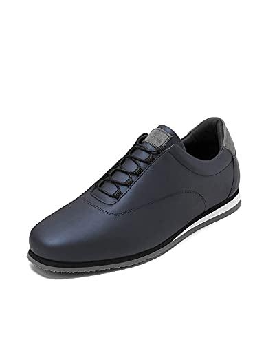 Crashers | Zapatos Casual de Hombre | Onyx Blue | Zapato de Piel Ecológico | Plantilla de Gel Extraible | Cómodo | Transpirable | 39 EU