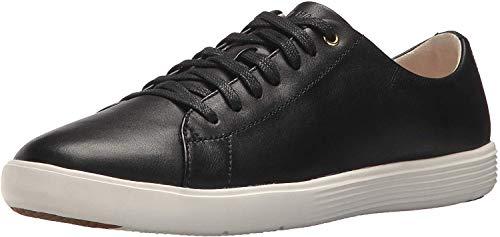 Cole Haan Women's Grand Crosscourt Sneaker, Black Leather/White, 10