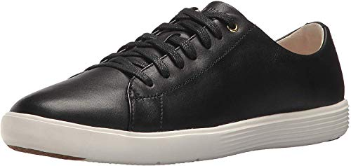 Cole Haan Women's Grand Crosscourt II Sneaker, Black Leather/White, 5.5