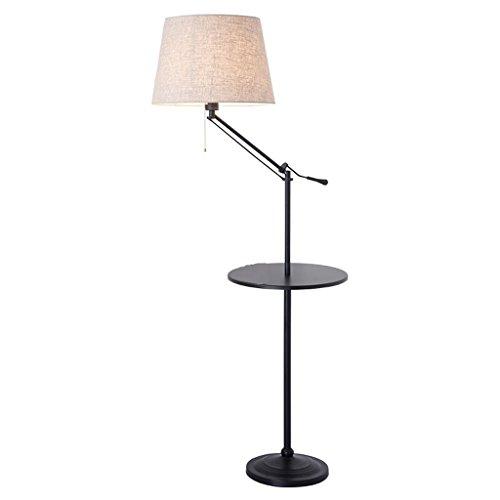 LEGELY Stehlampe im amerikanischen Stil, einfache Wohnzimmer Arbeitszimmer Schlafzimmer vertikale Lagerung Paletten Stehlampen, Sofa Tischlampe, 55.12 '' - 62.99''H (verstellbar)