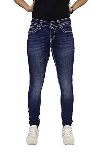 Blue Monkey Damen Luna 3855 Blue Denim Skinny Jeans (W29/L32)