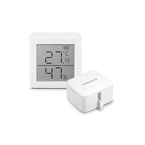 SwitchBot スイッチボット デジタル 温湿度計 + スイッチ ボタンに適用 指ロボット (1 Meter + 1 SwitchBot)