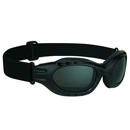 Bikershades Motorcycle Goggles Sunglasses Anti Glare Polarized Smoke Lens Foam Cushion Adjustable...