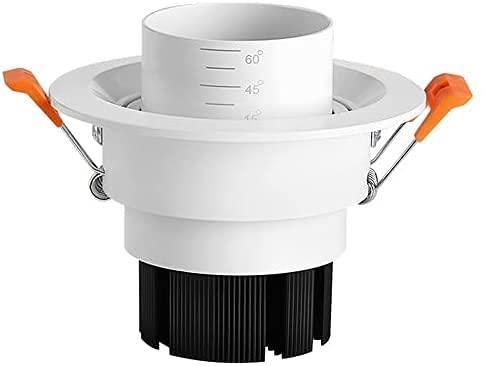 Raelf 5W 7W 10W LED Soffit Light Downlights Blanco Forma Redonda Foco de Foco de mazorca Luz empotrada 15 ° -60 ° Foco Ajustable Foco Luces Luces Panel de Aluminio Foco de luz