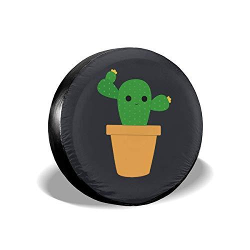 GFHTH Cubierta de neumáticos Resistente al Polvo y Resistente al Agua Moda, Fundas de neumáticos universales Cute Cactus para remolques, vehículos Todo Terreno, Camiones, Camiones y Muchos vehícul