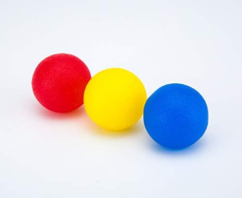 Juguetes antiestr/és Pelotas de Terapia de Mano con Forma de mancuerna para estr/és Vitos Fitness Alivio de la Artritis Resistencia de Dedo de Manos para ni/ños y Adultos