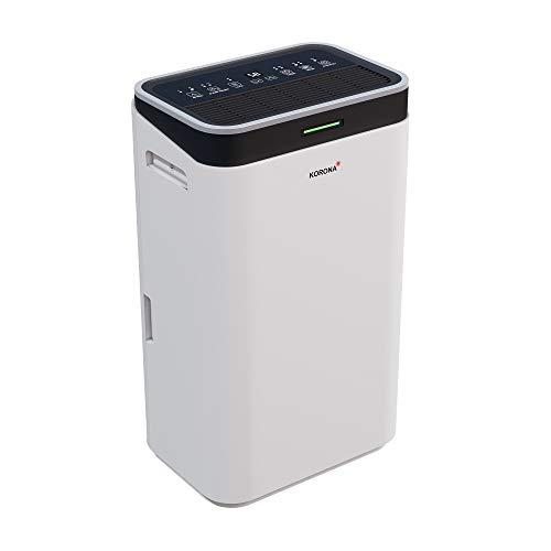 Korona 82100 Luftentfeuchter | Entfeuchtungskapazität von 20L /Tag | Entfeuchtet Räume bis 30 m² | Wäschetrocknungsfunktion | Timer | LED-Display & Lichtindikation | Umweltfreundliches Kühlmittel R290