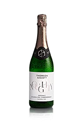 Thomson & Scott Noughty, Alcohol Free, Organic Sparkling Chardonnay, Low-Sugar, Halal Certified, Vegan - Great Gift for Expecting and New Mums, Birthdays, Anniversaries - 75cl