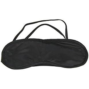 WeiMay Mascherina per Dormire - Sleep Eye Mask molle leggero degli occhi con cinghia regolabile migliore per Donna e Uomo Per Viaggi, Home Office Nap - Nero