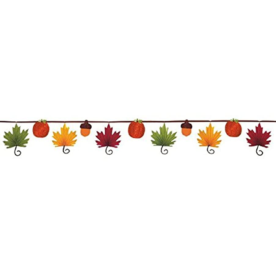 Leaf-Shaped Fan Banner Garland