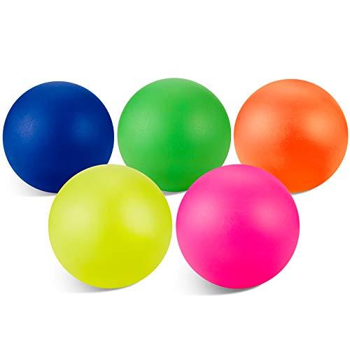 Sumind 5 Piezas Pelotas de Reemplazos de Playa Bolas de Repuesto de Paleta Bolas Extra para Actividades al Aire Libre, Colores Variados