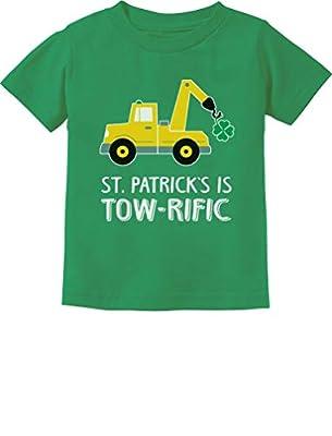 Tstars - St. Patrick's Day Gift Clover Tractor Toddler Kids T-Shirt 4T Green