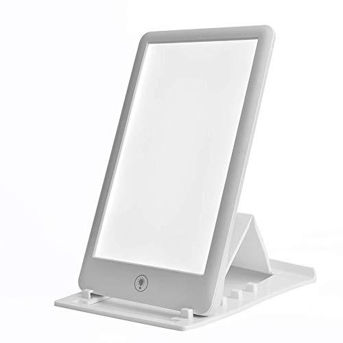 FJLOVE Tageslichtlampe 32000 Lux LED Lichttherapie Lampe UV-freie Schreibtischlampe Tageslicht,Vollspektrumlampe mit Stufenlosem Dimmer,Lichttherapielampe gegen Depressionen
