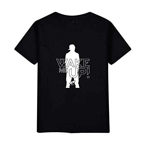 KJYAYA DJ Avicii Kurzarm T-Shirt Herrenmode Sportoberteile Lässiges Kurzarm-T-Shirt Mit Rundhalsausschnitt
