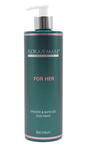 FLORA MARE FRAGRANCES For Her Shower & Bath Gel 500ml Duschbad mit Meeresmineralien & Aloe Vera