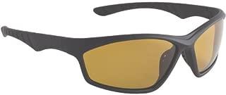 Vantage Sunglasses with Amber Polarized Lens, Matte Black
