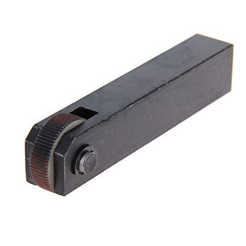 Herramienta de moleteado lineal de una sola rueda recta 1,2 mm moleteado negro 1 unidad