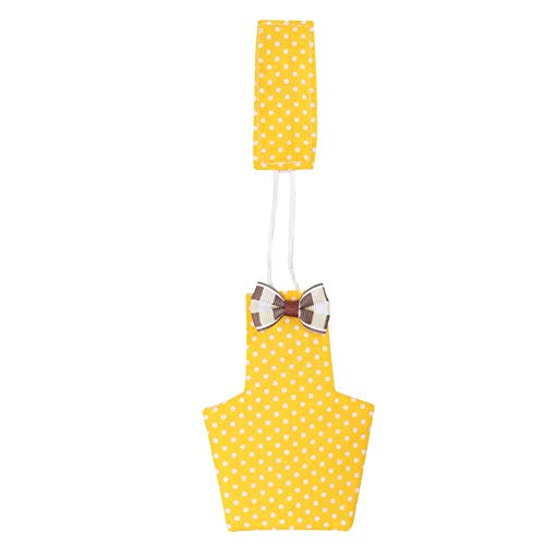 Hffheer Bird Diaper Parrot Cockatiel Flight Suite Pet Bird Flying Clothes Ropa para pájaros Pañal Lavable Dos Colores Son Opcionales(M Amarillo)