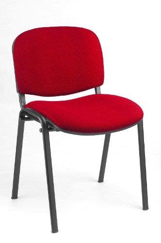 Preisvergleich Produktbild 20x Besucherstuhl Stühle Stuhl Konferenzstuhl Büromöbel stapelbar rot 220203