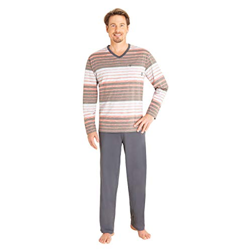 hajo, Schlafanzug Klima-Komfort 53328 Graumelange 56