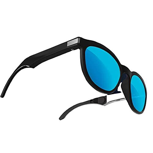 Perfeclan Gafas Inteligentes de conducción ósea G4, Gafas de Sol inalámbricas Bluetooth 5.0, Auriculares con Oreja Abierta, Manos Libres para Ciclismo, Azul