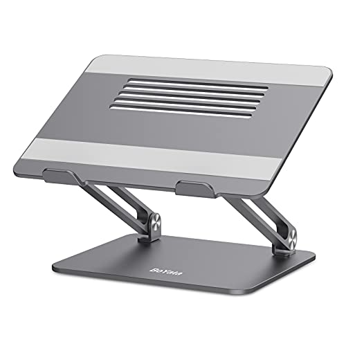 BoYata Supporto PC Portatile, Ergonomico in Alluminio Supporto per Laptop Multi-Angolo Regolabile Compatibile per Laptop (10-17 Pollici) Inclusi MacBook PRO/Air, Surface, Samsung, HP