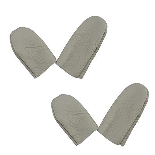 HAND® Herren Echtleder Dicke Harte Handwerk Daumen & Zeigefinger Fingerhut/Protector - Pack 2 Paare