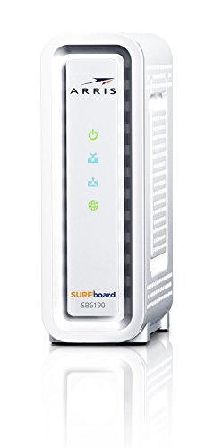ARRIS Surfboard SB6190 32x8 DOCSIS 3.0 Cable Modem with 1.4 Gbps...