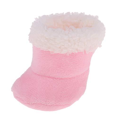 D DOLITY Fashion Botas de Felpa Miniatura Zapatos para Mellchan Muñeca 9 - 11 Pulgadas - Rosado