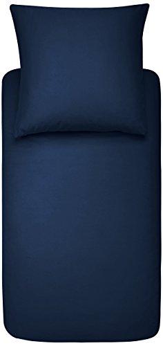 Amazon Basics DS-NBL-003 Parure de Lit avec Housse de Couette en Microfibre, Bleu Marine, 140 x 200 cm