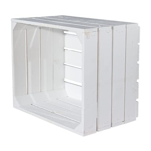 Caja de madera estándar, color blanco, 1 unidad