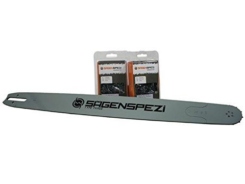 63cm Sägenspezi Schwert-Set Solid Drive mit 2 Vollmeißelketten 3/8