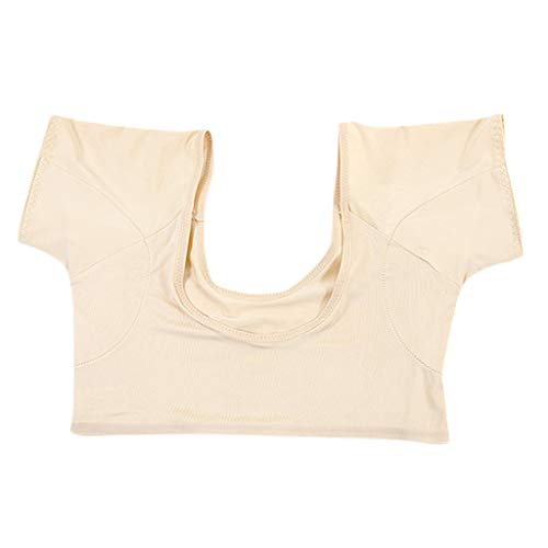 Camiseta de Cuerpo de Axila Lavable/Reutilizable Camiseta Interior antisudor Para Mujer - Carne M