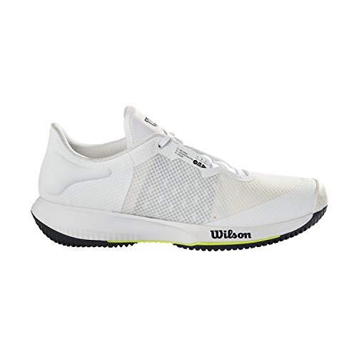 Wilson Kaos Swift, Zapatos de Tenis Hombre, White/Outer Space/Safety Yellow, 46 EU