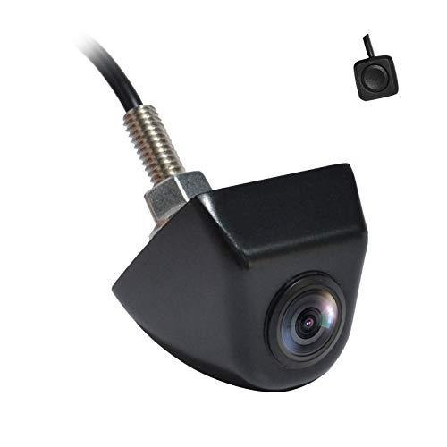 PARKVISION Cámara de Marcha atrás,Gran Angular Horizontal de 180º, botón Inteligente de una tecla para Mostrar 6 Modos, Carcasa de Metal, Vista Frontal Opcional, Sistema de Video de TV NTSC [115SW]