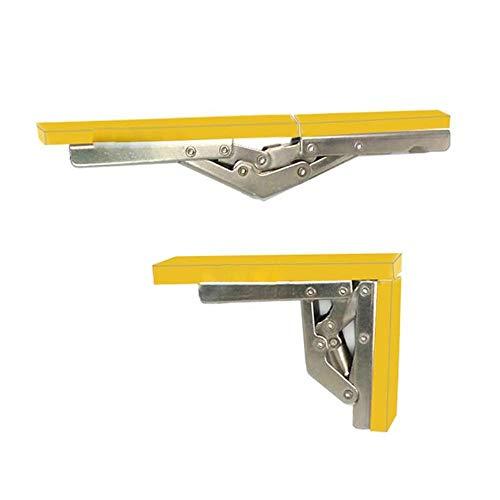 YAOJII 2 stuks 90 graden vouwdeur/plank scharnier verborgen houder tafelhouder meubelonderdelen