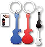 Lote de 20 Llavero Guitarra Abrebotellas Abridor - Detalles Originales Invitados de Bodas, Regalos Comuniones y Recuerdos para Cumpleaños Infantiles Baratos