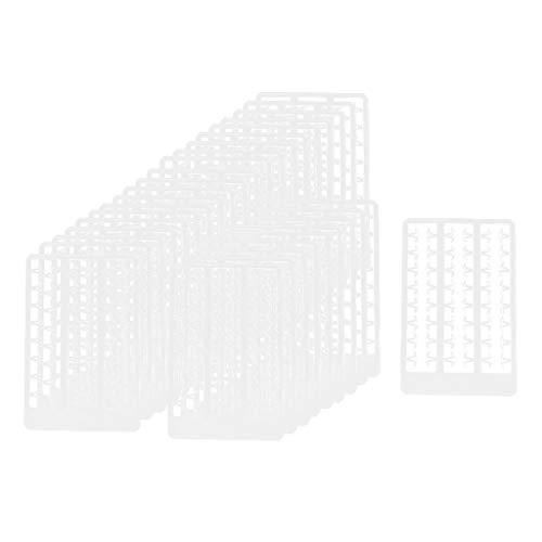 freneci 30x Boilie de Pesca en Forma de V de Plástico Detiene El Tapón de Cebo 0.8cm para Plataforma de Cabello