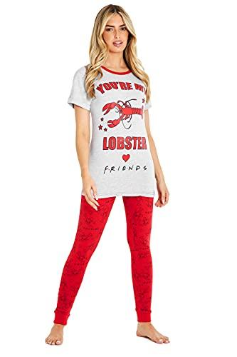 FRIENDS Pijama Mujer You Are My Lobster, Conjunto de 2 Piezas Camiseta de Manga Corta y Pantalón Largo, Ropa de Dormir Algodón Suave, Merchandising Serie, Regalos para Mujer Chicas (12/14)