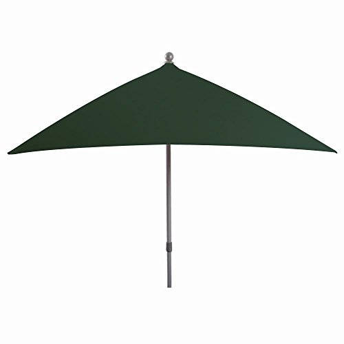 Siena Garden 788600 Artico Parasol Base Aluminium/Polyester Vert/Argent 245 x 195 cm
