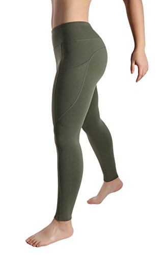 Womens Out Side Pocket Wod Capris Compression Pants Yoga Workout Leggings Full Sizes