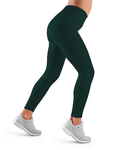 FarmaCell 609H (Verde, XL) Leggings Sportivo Donna Fitness Yoga Palestra Jogging Elasticizzato Termoregolatore Caldo in Inverno e Traspirante in Estate