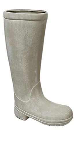 Casablanca Schirmständer - Keramik grau-matt mit Kunststoff-Topf H 49 cm