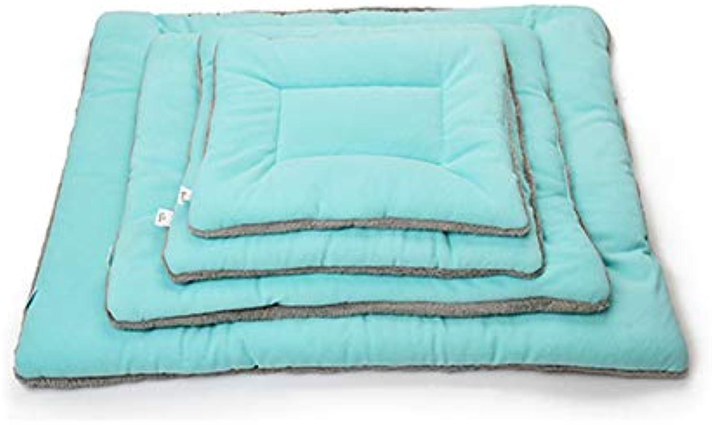 CHEN. Pet bed  dog mat winter suede bite pet supplies mat dog blanket dog blanket quilt cat bed dog mattress pet supplies,bluee,XL