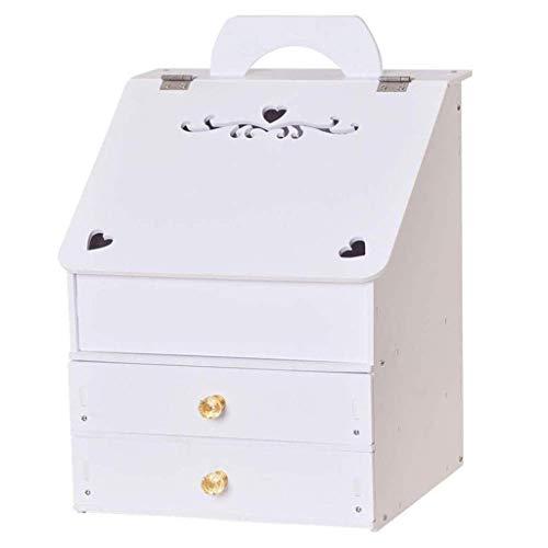 ADSE Caja de Almacenamiento de Escritorio - Tocador de plástico Caja de Almacenamiento para el Cuidado de la Piel Caja Tipo cajón