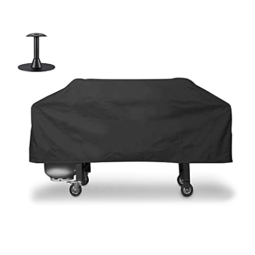Unicook Griddle CoverforBlackstone 36 InchGrill, Flat Top Cooking Station Grill Cover with Sealed Seam, OutdoorHeavy Duty WaterproofGrillCover, Includes Support Pole to Prevent Water Pooling